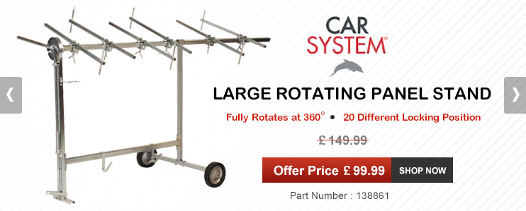 Car System - Large Rotating Panel Stand